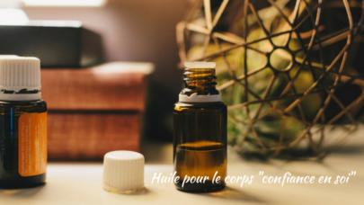 "Self-confidence massage oil (Huile de massage ""confiance en soi"")"